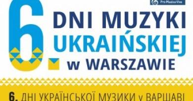 Dni Muzyki Ukraińskiej w Warszawie
