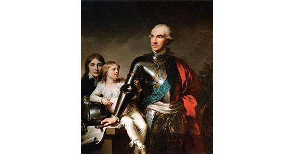 Граф Потоцький з дітьми