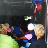 В багажном отделении на полу сидело 21 человек