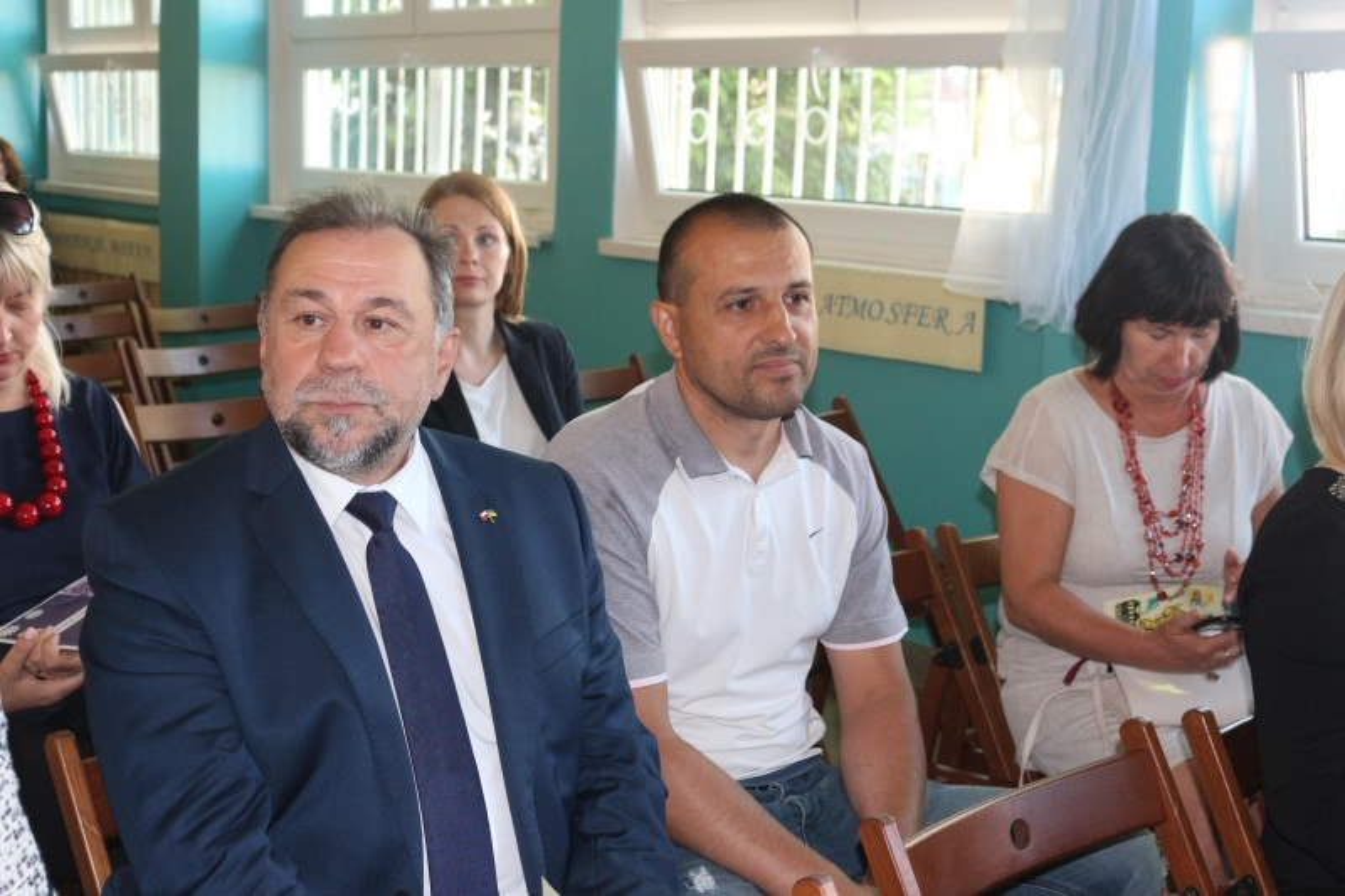 Лев Захарчишин, Консул-руководитель Украины в Гданське (слева), Эля Кжеминская, глава Поморского объединения украинцев в Польше (справа)
