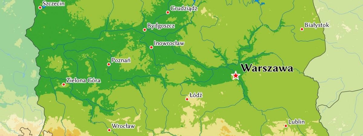 Польские воеводства и их столицы