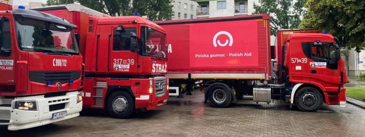 Польща відправила в Україну 12 вантажівок медичної допомоги