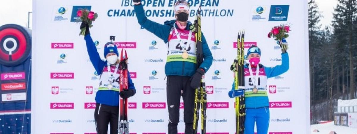 """Українська біатлоністка виграла """"срібло"""" на ЧЄ, який почався в Польщі"""