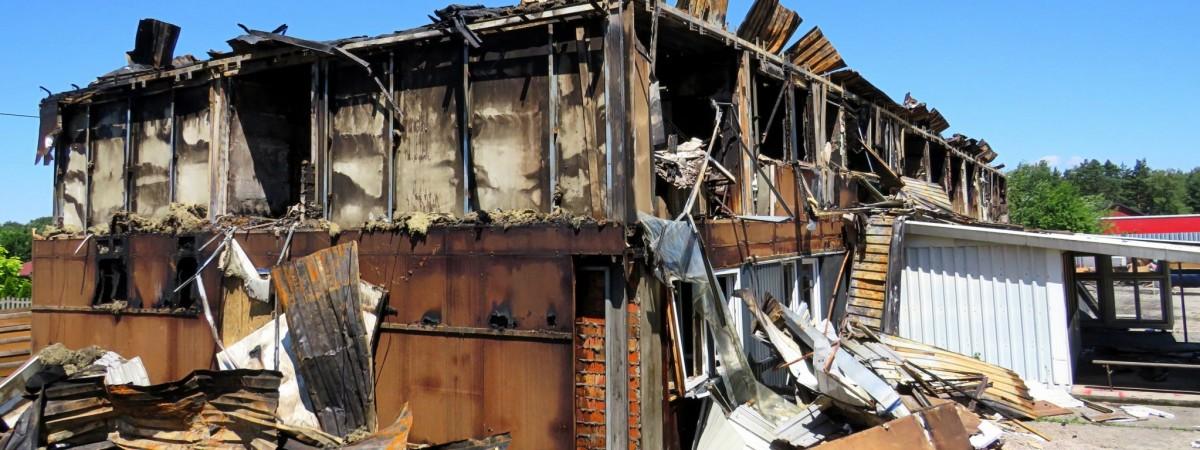 У Польщі майже повністю згорів хостел, в якому проживали працівники з України