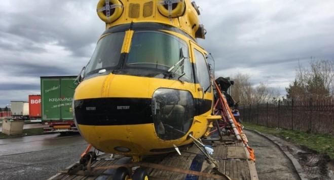 Поляк намагався невдало провезти в Україну гелікоптер (ВІДЕО)