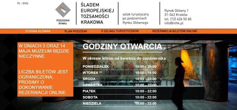 Підземелля Ринку в Кракові
