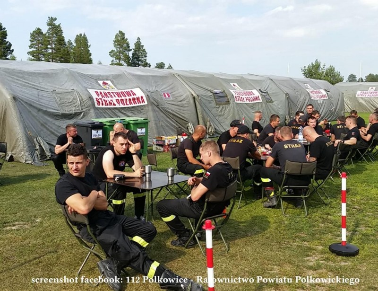 Пожежники облаштувалися в Швеції