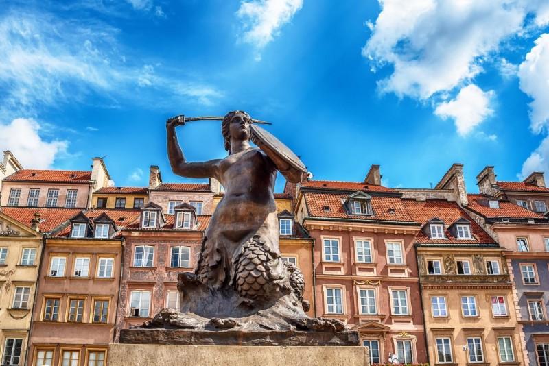 Варшавська сирена на площі Ринок Старого міста