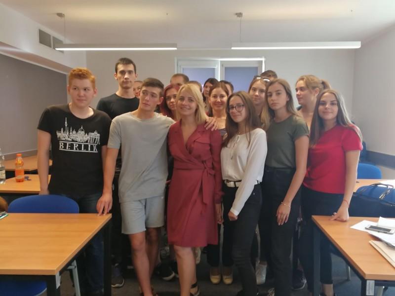 Марина Пономаренко с першокурсниками, Гданськ