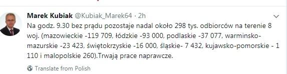 Сообщение в соцсети Twitter, пользователь Marek Kubiak