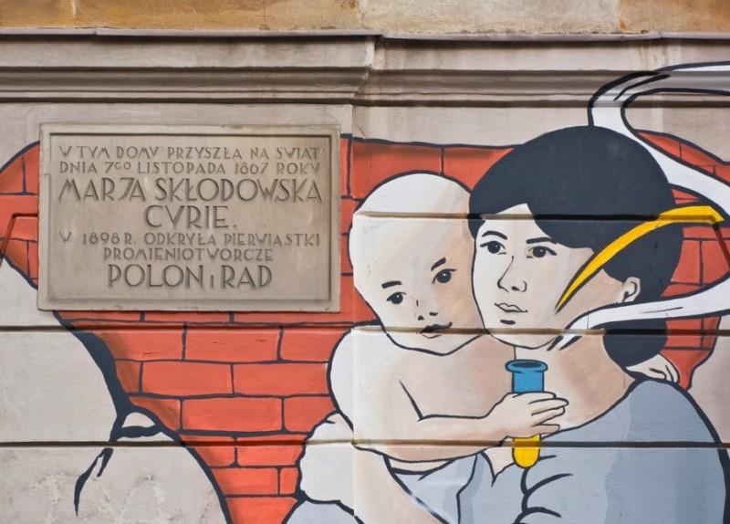 Зображення Марії Кюрі у Варшаві