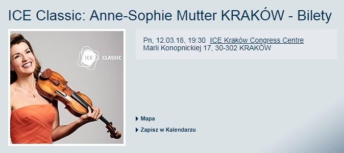 Концерт Анне - Софи Муттер