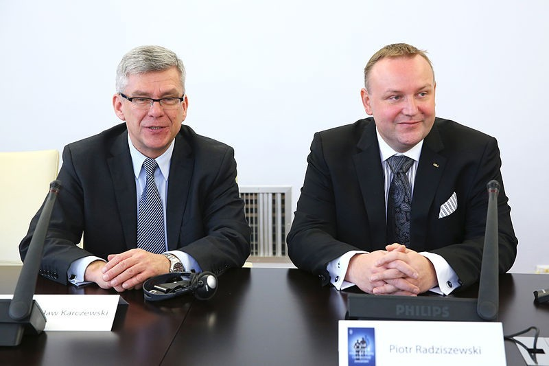 Stanisław Karczewski Piotr Radziszewski Kancelaria Senatu/ autor Michał Józefaciuk