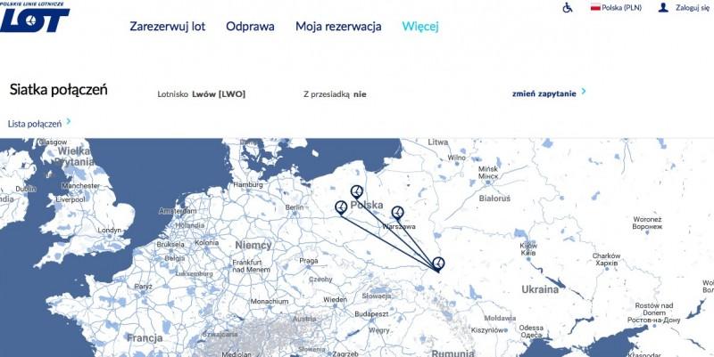 LOT запускает рейс Быдгощ-Львов